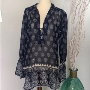 Nwot Lucy Love sheer tunic with slightly open back